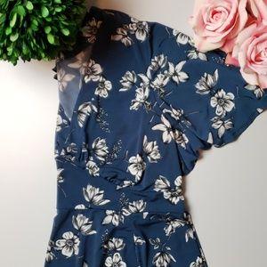 [Torrid] Size 2 Blue Floral Dress